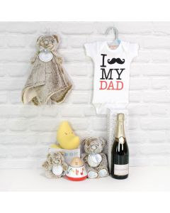 Light of Dad's Life Gift Basket with Champagne, baby gift baskets,baby gifts