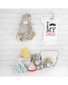 Father's Love Gift Basket, baby gift baskets, baby gifts, gift baskets, newborns