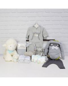 UNISEX COMFORT SET, unisex gift hamper, newborns, new parents