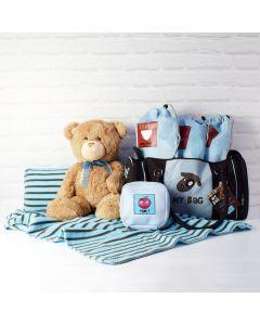 BABY BOY DIAPER BAG GIFT SET, baby boy gift hamper, newborns, new parents