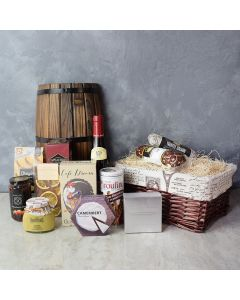 Taste of Indulgence Cheese & Wine Gift Set, wine gift baskets, gourmet gift baskets, gift baskets