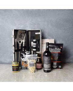 Smokin' BBQ Grill Gift Set with Wine, gift baskets, gourmet gifts, gifts