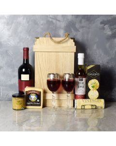 Deluxe Wine & Cheese Crate