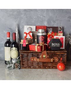 Wine & Cheese Holiday Basket