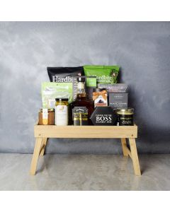 Morningside Delights Gift Snack Tray with Liquor, gift baskets, gourmet gifts, gifts, liquor