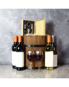 Wine Barrel Gift Set