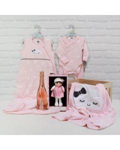 BABY GIRL CELEBRATION CRATE, baby girl gift hamper, newborns, new parents