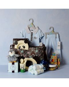 BABY BOY DAYCARE & FEEDING SET, baby boy gift hamper, newborns, new parents