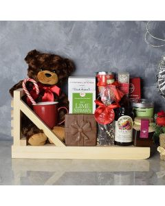 Holiday Tea & Cookies Gift Basket