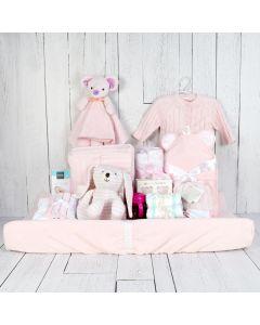 LUXURY COMFORT SET FOR THE BABY GIRL, baby girl gift hamper, newborns, new parents