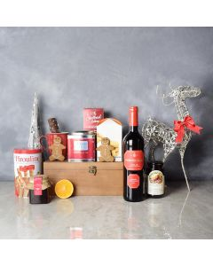 Christmas Tea & Treat Gift Set, wine gift baskets, gourmet gifts, gifts