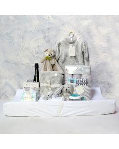 UNISEX COMFORT & NAPTIME SET WITH CHAMPAGNE, unisex baby gift hamper, newborns, new parents