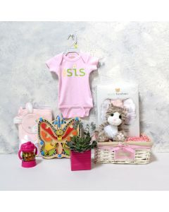BABY BLUE CELEBRATION GIFT SET WITH CHAMPAGNE, baby girl gift hamper, newborns, new parents