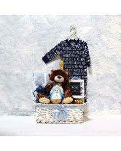BABY BOY'S FLIP N SIP GIFT SET WITH CHAMPAGNE, baby boy gift hamper, newborns, new parents