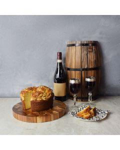 Coffee Cake & Wine Gift Set, wine gift baskets, gourmet gift baskets, gift baskets, gourmet gifts