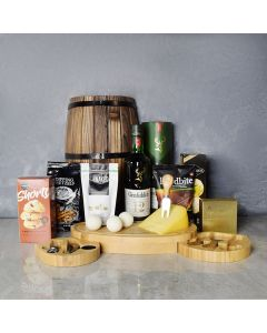 Hole in One Gourmet Gift Set, liquor gift baskets, gourmet gift baskets, gift baskets, gourmet gifts