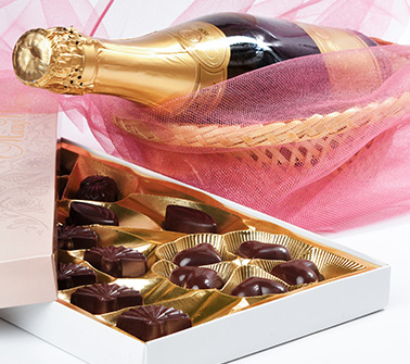 Champagne & Chocolate Gift Baskets Delivered to Philadelphia